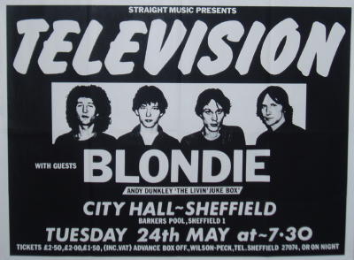 TELEVISION BLONDIE SHEFFIELD