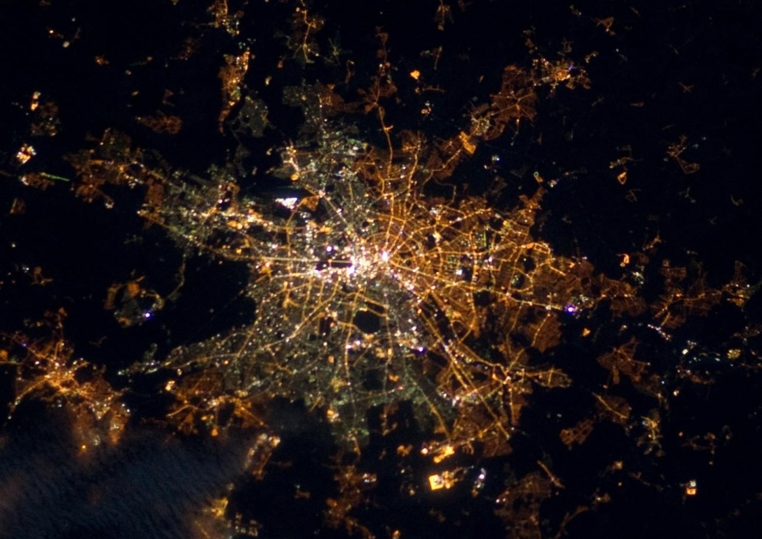 Berlin fra satellit 2012
